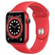 Apple Watch Series 6 GPS 44mm piros alumíniumtok piros sportszíjjal