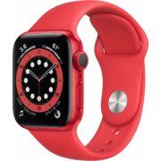 Apple Watch Series 6 GPS 40mm piros alumíniumtok piros sportszíjjal