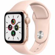 Apple Watch SE GPS 44mm arany alumíniumtok rózsaszín sportszíjjal