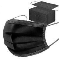 Szájmaszk 3 rétegű/ Egészségügyi védőmaszk fekete (10db)
