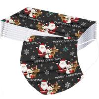 Karácsonyi 3 rétegű szájmaszk/ Egészségügyi védőmaszk (5db)
