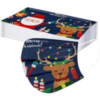 Karácsonyi 3 rétegű szájmaszk/ Egészségügyi védőmaszk 5db (Gyerek méret)